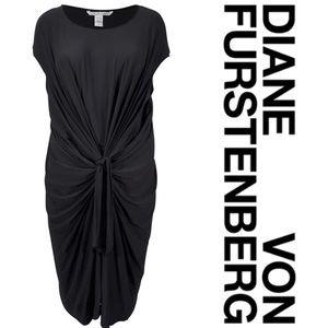 Diane Von Furstenberg Jersey Drape Knot Dress